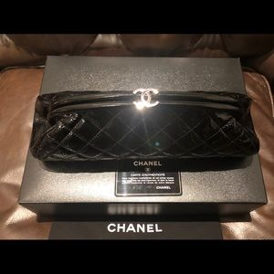 Chanel Timeless Clutch patent leather
